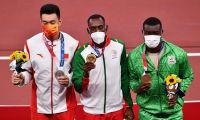 Pichardo já recebeu a medalha de ouro embalado pelo hino nacional