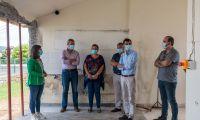 Tibério Dinis visitou empreitada de requalificação  e ampliação da Escola Primária do Cabo da Praia