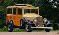 A Supercharged 1932 Ford V8 Woodie Surf Wagon